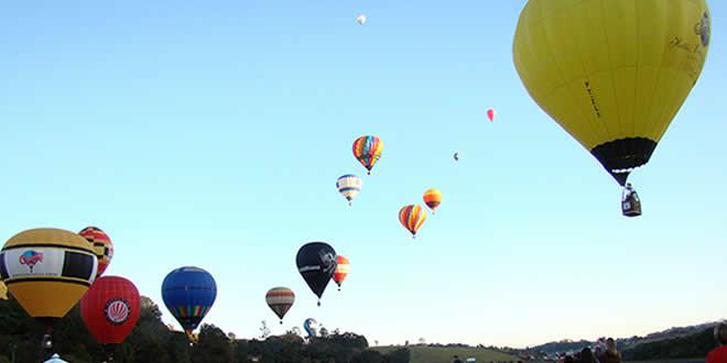 Passeio de balão em São Lourenço
