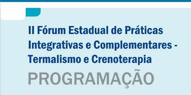 PROGRAMAÇÃO II Fórum Estadual de Práticas Integrativas e Complementares