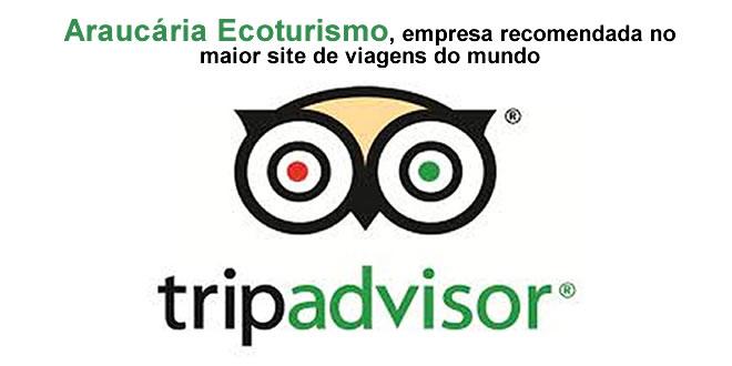 Araucária Ecoturismo ganha selo de recomendação do TripAdvisor
