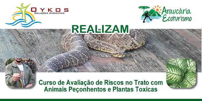 Curso de Avaliação de Riscos no Trato com Animais Peçonhentos e Plantas Toxicas